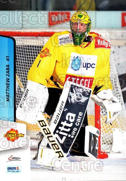 2013-14 Erste Bank Eishockey Liga EBEL #19 Matthew Zaba<br/>2 In Stock - $2.00 each - <a href=https://centericecollectibles.foxycart.com/cart?name=2013-14%20Erste%20Bank%20Eishockey%20Liga%20EBEL%20%2319%20Matthew%20Zaba...&quantity_max=2&price=$2.00&code=590586 class=foxycart> Buy it now! </a>