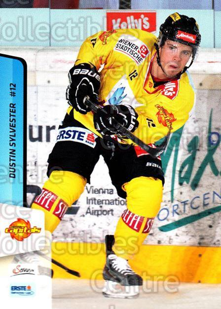 2013-14 Erste Bank Eishockey Liga EBEL #36 Dustin Sylvester<br/>2 In Stock - $2.00 each - <a href=https://centericecollectibles.foxycart.com/cart?name=2013-14%20Erste%20Bank%20Eishockey%20Liga%20EBEL%20%2336%20Dustin%20Sylveste...&quantity_max=2&price=$2.00&code=590603 class=foxycart> Buy it now! </a>