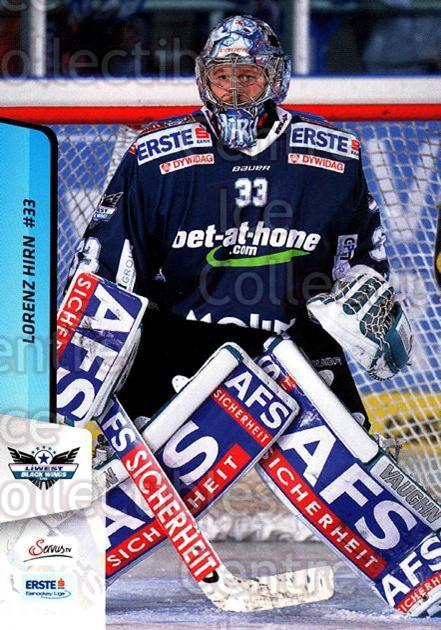 2013-14 Erste Bank Eishockey Liga EBEL #38 Lorenz Hirn<br/>5 In Stock - $2.00 each - <a href=https://centericecollectibles.foxycart.com/cart?name=2013-14%20Erste%20Bank%20Eishockey%20Liga%20EBEL%20%2338%20Lorenz%20Hirn...&quantity_max=5&price=$2.00&code=590605 class=foxycart> Buy it now! </a>
