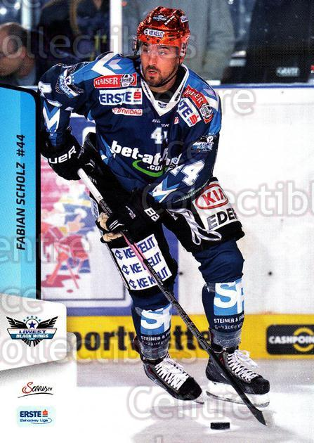 2013-14 Erste Bank Eishockey Liga EBEL #49 Fabian Scholz<br/>5 In Stock - $2.00 each - <a href=https://centericecollectibles.foxycart.com/cart?name=2013-14%20Erste%20Bank%20Eishockey%20Liga%20EBEL%20%2349%20Fabian%20Scholz...&quantity_max=5&price=$2.00&code=590616 class=foxycart> Buy it now! </a>