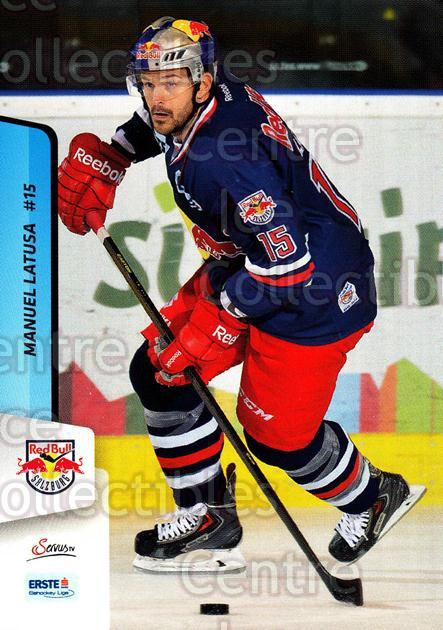2013-14 Erste Bank Eishockey Liga EBEL #67 Manuel Latusa<br/>4 In Stock - $2.00 each - <a href=https://centericecollectibles.foxycart.com/cart?name=2013-14%20Erste%20Bank%20Eishockey%20Liga%20EBEL%20%2367%20Manuel%20Latusa...&quantity_max=4&price=$2.00&code=590634 class=foxycart> Buy it now! </a>