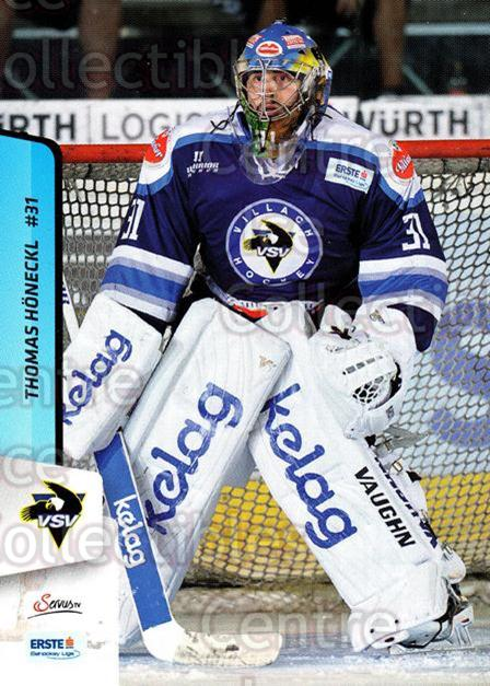 2013-14 Erste Bank Eishockey Liga EBEL #73 Thomas Honeckl<br/>5 In Stock - $2.00 each - <a href=https://centericecollectibles.foxycart.com/cart?name=2013-14%20Erste%20Bank%20Eishockey%20Liga%20EBEL%20%2373%20Thomas%20Honeckl...&quantity_max=5&price=$2.00&code=590640 class=foxycart> Buy it now! </a>