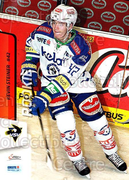 2013-14 Erste Bank Eishockey Liga EBEL #78 Kevin Steiner<br/>4 In Stock - $2.00 each - <a href=https://centericecollectibles.foxycart.com/cart?name=2013-14%20Erste%20Bank%20Eishockey%20Liga%20EBEL%20%2378%20Kevin%20Steiner...&quantity_max=4&price=$2.00&code=590645 class=foxycart> Buy it now! </a>