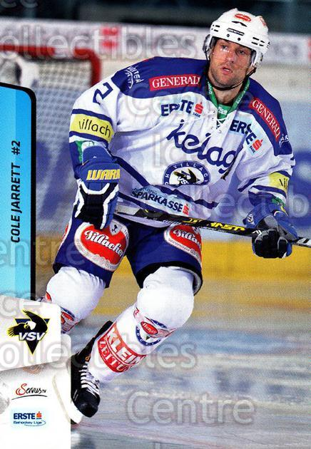 2013-14 Erste Bank Eishockey Liga EBEL #80 Cole Jarrett<br/>2 In Stock - $2.00 each - <a href=https://centericecollectibles.foxycart.com/cart?name=2013-14%20Erste%20Bank%20Eishockey%20Liga%20EBEL%20%2380%20Cole%20Jarrett...&quantity_max=2&price=$2.00&code=590647 class=foxycart> Buy it now! </a>
