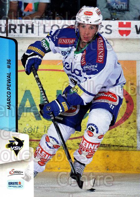 2013-14 Erste Bank Eishockey Liga EBEL #86 Marco Pewal<br/>5 In Stock - $2.00 each - <a href=https://centericecollectibles.foxycart.com/cart?name=2013-14%20Erste%20Bank%20Eishockey%20Liga%20EBEL%20%2386%20Marco%20Pewal...&quantity_max=5&price=$2.00&code=590653 class=foxycart> Buy it now! </a>