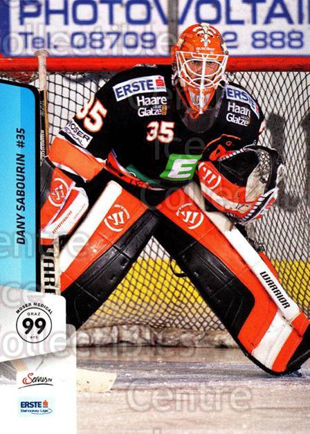 2013-14 Erste Bank Eishockey Liga EBEL #91 Dany Sabourin<br/>1 In Stock - $2.00 each - <a href=https://centericecollectibles.foxycart.com/cart?name=2013-14%20Erste%20Bank%20Eishockey%20Liga%20EBEL%20%2391%20Dany%20Sabourin...&quantity_max=1&price=$2.00&code=590658 class=foxycart> Buy it now! </a>