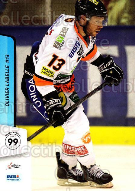 2013-14 Erste Bank Eishockey Liga EBEL #102 Olivier Labelle<br/>1 In Stock - $2.00 each - <a href=https://centericecollectibles.foxycart.com/cart?name=2013-14%20Erste%20Bank%20Eishockey%20Liga%20EBEL%20%23102%20Olivier%20Labelle...&quantity_max=1&price=$2.00&code=590669 class=foxycart> Buy it now! </a>