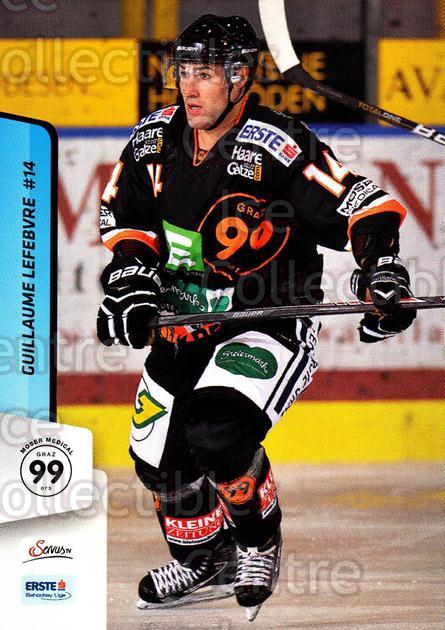 2013-14 Erste Bank Eishockey Liga EBEL #104 Guillaume Lefebvre<br/>2 In Stock - $2.00 each - <a href=https://centericecollectibles.foxycart.com/cart?name=2013-14%20Erste%20Bank%20Eishockey%20Liga%20EBEL%20%23104%20Guillaume%20Lefeb...&quantity_max=2&price=$2.00&code=590671 class=foxycart> Buy it now! </a>
