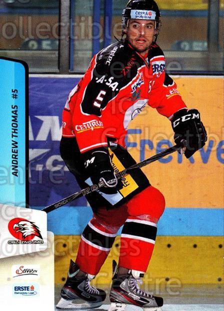 2013-14 Erste Bank Eishockey Liga EBEL #115 Andrew Thomas<br/>5 In Stock - $2.00 each - <a href=https://centericecollectibles.foxycart.com/cart?name=2013-14%20Erste%20Bank%20Eishockey%20Liga%20EBEL%20%23115%20Andrew%20Thomas...&quantity_max=5&price=$2.00&code=590682 class=foxycart> Buy it now! </a>