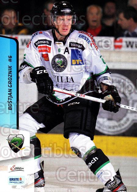 2013-14 Erste Bank Eishockey Liga EBEL #133 Bostjan Groznik<br/>5 In Stock - $2.00 each - <a href=https://centericecollectibles.foxycart.com/cart?name=2013-14%20Erste%20Bank%20Eishockey%20Liga%20EBEL%20%23133%20Bostjan%20Groznik...&quantity_max=5&price=$2.00&code=590700 class=foxycart> Buy it now! </a>