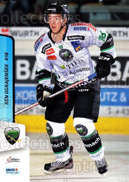 2013-14 Erste Bank Eishockey Liga EBEL #136 Ken Ograjensek<br/>4 In Stock - $2.00 each - <a href=https://centericecollectibles.foxycart.com/cart?name=2013-14%20Erste%20Bank%20Eishockey%20Liga%20EBEL%20%23136%20Ken%20Ograjensek...&quantity_max=4&price=$2.00&code=590703 class=foxycart> Buy it now! </a>