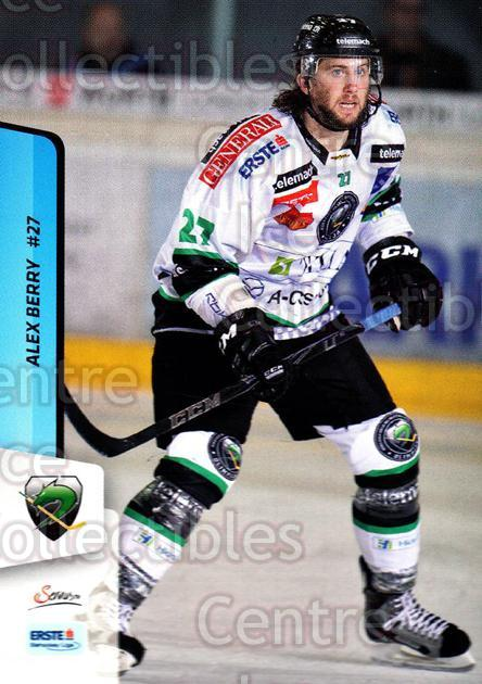 2013-14 Erste Bank Eishockey Liga EBEL #138 Alex Berry<br/>4 In Stock - $2.00 each - <a href=https://centericecollectibles.foxycart.com/cart?name=2013-14%20Erste%20Bank%20Eishockey%20Liga%20EBEL%20%23138%20Alex%20Berry...&quantity_max=4&price=$2.00&code=590705 class=foxycart> Buy it now! </a>