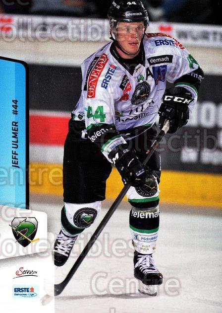 2013-14 Erste Bank Eishockey Liga EBEL #142 Jeff Ulmer<br/>1 In Stock - $2.00 each - <a href=https://centericecollectibles.foxycart.com/cart?name=2013-14%20Erste%20Bank%20Eishockey%20Liga%20EBEL%20%23142%20Jeff%20Ulmer...&quantity_max=1&price=$2.00&code=590709 class=foxycart> Buy it now! </a>