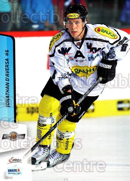 2013-14 Erste Bank Eishockey Liga EBEL #147 Jonathan D'Aversa<br/>5 In Stock - $2.00 each - <a href=https://centericecollectibles.foxycart.com/cart?name=2013-14%20Erste%20Bank%20Eishockey%20Liga%20EBEL%20%23147%20Jonathan%20D'Aver...&quantity_max=5&price=$2.00&code=590714 class=foxycart> Buy it now! </a>