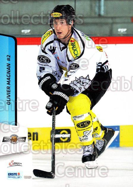 2013-14 Erste Bank Eishockey Liga EBEL #148 Olivier Magnan<br/>4 In Stock - $2.00 each - <a href=https://centericecollectibles.foxycart.com/cart?name=2013-14%20Erste%20Bank%20Eishockey%20Liga%20EBEL%20%23148%20Olivier%20Magnan...&quantity_max=4&price=$2.00&code=590715 class=foxycart> Buy it now! </a>