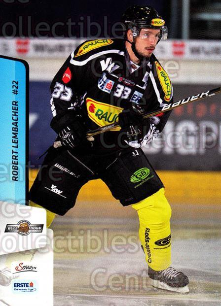 2013-14 Erste Bank Eishockey Liga EBEL #151 Robert Lembacher<br/>5 In Stock - $2.00 each - <a href=https://centericecollectibles.foxycart.com/cart?name=2013-14%20Erste%20Bank%20Eishockey%20Liga%20EBEL%20%23151%20Robert%20Lembache...&quantity_max=5&price=$2.00&code=590718 class=foxycart> Buy it now! </a>