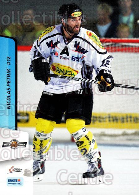 2013-14 Erste Bank Eishockey Liga EBEL #155 Nicolas Petrik<br/>5 In Stock - $2.00 each - <a href=https://centericecollectibles.foxycart.com/cart?name=2013-14%20Erste%20Bank%20Eishockey%20Liga%20EBEL%20%23155%20Nicolas%20Petrik...&quantity_max=5&price=$2.00&code=590722 class=foxycart> Buy it now! </a>