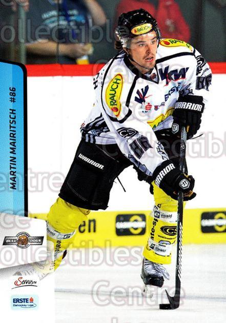 2013-14 Erste Bank Eishockey Liga EBEL #159 Martin Mairitsch<br/>5 In Stock - $2.00 each - <a href=https://centericecollectibles.foxycart.com/cart?name=2013-14%20Erste%20Bank%20Eishockey%20Liga%20EBEL%20%23159%20Martin%20Mairitsc...&quantity_max=5&price=$2.00&code=590726 class=foxycart> Buy it now! </a>