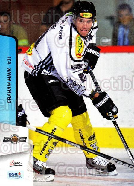 2013-14 Erste Bank Eishockey Liga EBEL #160 Graham Mink<br/>3 In Stock - $2.00 each - <a href=https://centericecollectibles.foxycart.com/cart?name=2013-14%20Erste%20Bank%20Eishockey%20Liga%20EBEL%20%23160%20Graham%20Mink...&quantity_max=3&price=$2.00&code=590727 class=foxycart> Buy it now! </a>