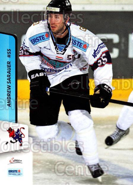 2013-14 Erste Bank Eishockey Liga EBEL #179 Andrew Sarauer<br/>5 In Stock - $2.00 each - <a href=https://centericecollectibles.foxycart.com/cart?name=2013-14%20Erste%20Bank%20Eishockey%20Liga%20EBEL%20%23179%20Andrew%20Sarauer...&quantity_max=5&price=$2.00&code=590746 class=foxycart> Buy it now! </a>