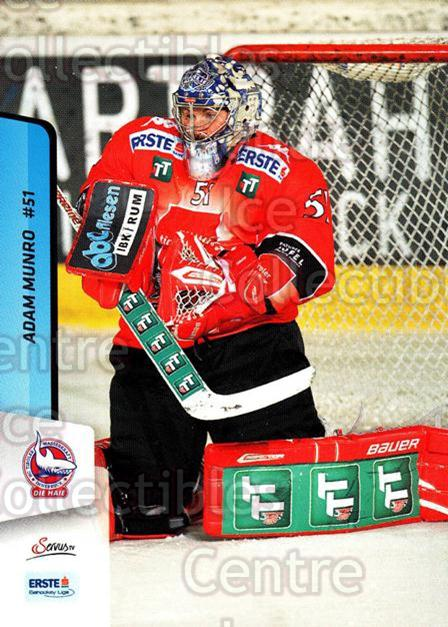 2013-14 Erste Bank Eishockey Liga EBEL #182 Adam Munro<br/>3 In Stock - $2.00 each - <a href=https://centericecollectibles.foxycart.com/cart?name=2013-14%20Erste%20Bank%20Eishockey%20Liga%20EBEL%20%23182%20Adam%20Munro...&quantity_max=3&price=$2.00&code=590749 class=foxycart> Buy it now! </a>