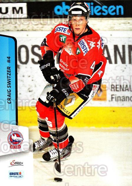 2013-14 Erste Bank Eishockey Liga EBEL #188 Craig Switzer<br/>4 In Stock - $2.00 each - <a href=https://centericecollectibles.foxycart.com/cart?name=2013-14%20Erste%20Bank%20Eishockey%20Liga%20EBEL%20%23188%20Craig%20Switzer...&quantity_max=4&price=$2.00&code=590755 class=foxycart> Buy it now! </a>