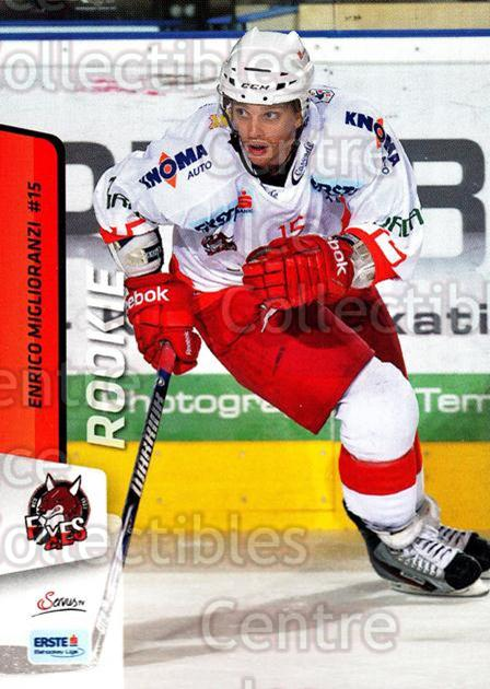 2013-14 Erste Bank Eishockey Liga EBEL #202 Enrico Miglioranzi<br/>2 In Stock - $2.00 each - <a href=https://centericecollectibles.foxycart.com/cart?name=2013-14%20Erste%20Bank%20Eishockey%20Liga%20EBEL%20%23202%20Enrico%20Migliora...&quantity_max=2&price=$2.00&code=590769 class=foxycart> Buy it now! </a>