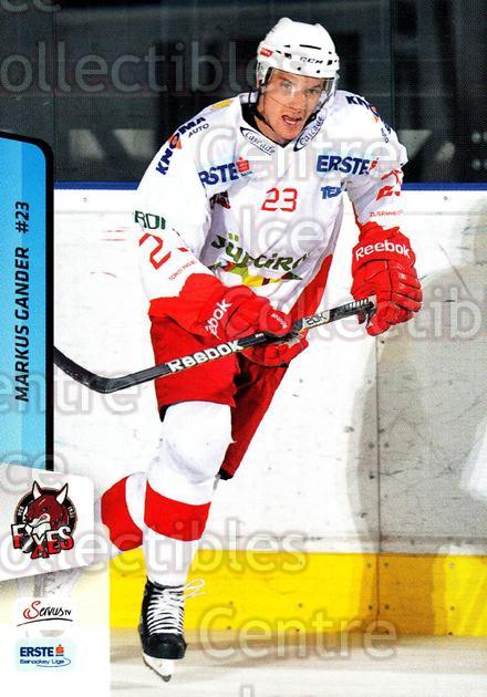 2013-14 Erste Bank Eishockey Liga EBEL #207 Markus Gander<br/>3 In Stock - $2.00 each - <a href=https://centericecollectibles.foxycart.com/cart?name=2013-14%20Erste%20Bank%20Eishockey%20Liga%20EBEL%20%23207%20Markus%20Gander...&quantity_max=3&price=$2.00&code=590774 class=foxycart> Buy it now! </a>
