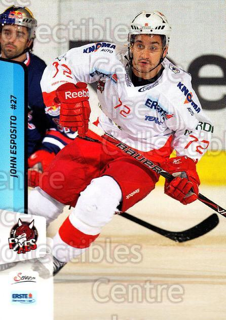 2013-14 Erste Bank Eishockey Liga EBEL #215 John Esposito<br/>4 In Stock - $2.00 each - <a href=https://centericecollectibles.foxycart.com/cart?name=2013-14%20Erste%20Bank%20Eishockey%20Liga%20EBEL%20%23215%20John%20Esposito...&quantity_max=4&price=$2.00&code=590782 class=foxycart> Buy it now! </a>
