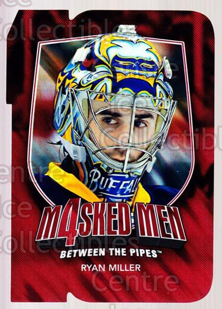2011-12 Between The Pipes Masked Men 4 Ruby #31 Ryan Miller<br/>3 In Stock - $3.00 each - <a href=https://centericecollectibles.foxycart.com/cart?name=2011-12%20Between%20The%20Pipes%20Masked%20Men%204%20Ruby%20%2331%20Ryan%20Miller...&quantity_max=3&price=$3.00&code=592231 class=foxycart> Buy it now! </a>