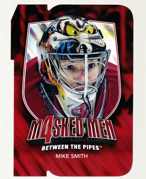 2011-12 Between The Pipes Masked Men 4 Ruby #43 Mike Smith<br/>2 In Stock - $3.00 each - <a href=https://centericecollectibles.foxycart.com/cart?name=2011-12%20Between%20The%20Pipes%20Masked%20Men%204%20Ruby%20%2343%20Mike%20Smith...&quantity_max=2&price=$3.00&code=592243 class=foxycart> Buy it now! </a>