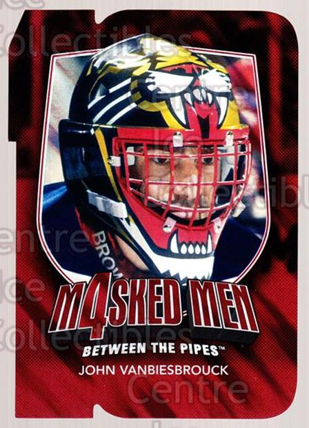 2011-12 Between The Pipes Masked Men 4 Ruby #46 John Vanbiesbrouck<br/>1 In Stock - $5.00 each - <a href=https://centericecollectibles.foxycart.com/cart?name=2011-12%20Between%20The%20Pipes%20Masked%20Men%204%20Ruby%20%2346%20John%20Vanbiesbro...&quantity_max=1&price=$5.00&code=592246 class=foxycart> Buy it now! </a>
