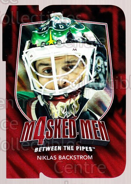 2011-12 Between The Pipes Masked Men 4 Ruby #3 Niklas Backstrom<br/>5 In Stock - $3.00 each - <a href=https://centericecollectibles.foxycart.com/cart?name=2011-12%20Between%20The%20Pipes%20Masked%20Men%204%20Ruby%20%233%20Niklas%20Backstro...&quantity_max=5&price=$3.00&code=592253 class=foxycart> Buy it now! </a>