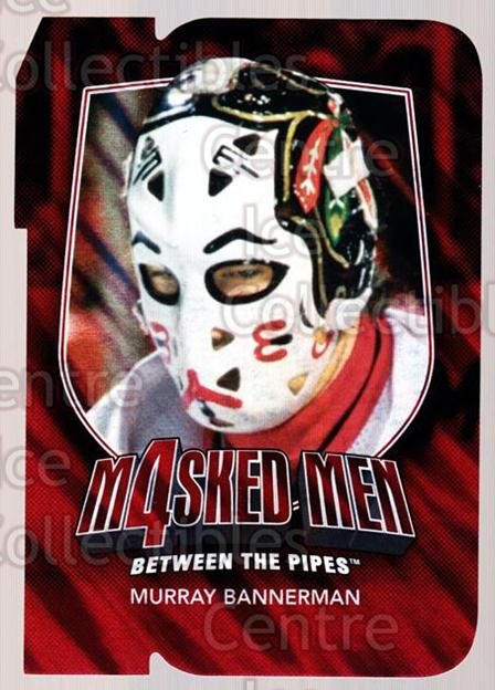 2011-12 Between The Pipes Masked Men 4 Ruby #4 Murray Bannerman<br/>2 In Stock - $3.00 each - <a href=https://centericecollectibles.foxycart.com/cart?name=2011-12%20Between%20The%20Pipes%20Masked%20Men%204%20Ruby%20%234%20Murray%20Bannerma...&quantity_max=2&price=$3.00&code=592254 class=foxycart> Buy it now! </a>