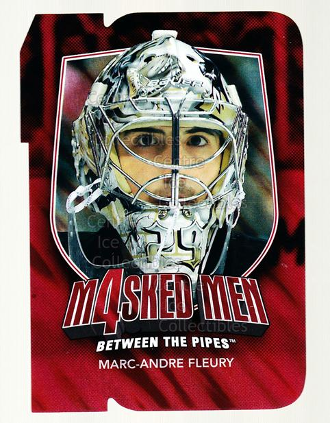 2011-12 Between The Pipes Masked Men 4 Ruby #17 Marc-Andre Fleury<br/>6 In Stock - $3.00 each - <a href=https://centericecollectibles.foxycart.com/cart?name=2011-12%20Between%20The%20Pipes%20Masked%20Men%204%20Ruby%20%2317%20Marc-Andre%20Fleu...&quantity_max=6&price=$3.00&code=592267 class=foxycart> Buy it now! </a>