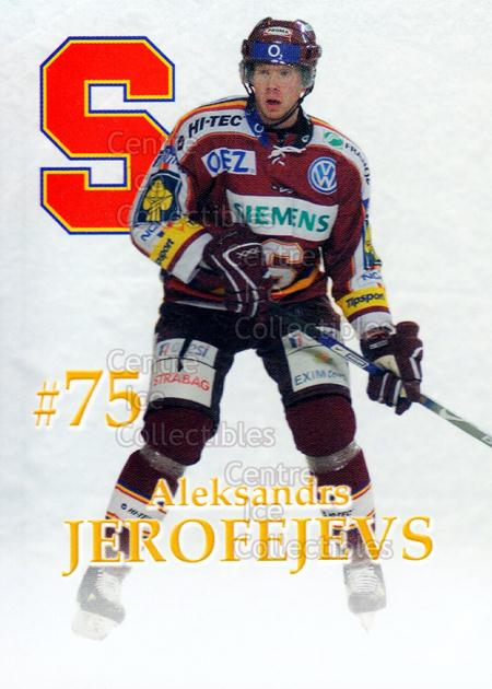 2007-08 Czech HC Sparta Praha Team Issue #11 Alexander Jerofejevs<br/>2 In Stock - $3.00 each - <a href=https://centericecollectibles.foxycart.com/cart?name=2007-08%20Czech%20HC%20Sparta%20Praha%20Team%20Issue%20%2311%20Alexander%20Jerof...&price=$3.00&code=592397 class=foxycart> Buy it now! </a>