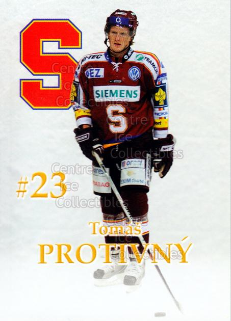2007-08 Czech HC Sparta Praha Team Issue #19 Tomas Protivny<br/>2 In Stock - $3.00 each - <a href=https://centericecollectibles.foxycart.com/cart?name=2007-08%20Czech%20HC%20Sparta%20Praha%20Team%20Issue%20%2319%20Tomas%20Protivny...&price=$3.00&code=592405 class=foxycart> Buy it now! </a>