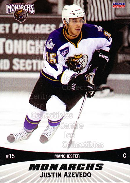 2010-11 Manchester Monarchs #1 Justin Azevedo<br/>2 In Stock - $3.00 each - <a href=https://centericecollectibles.foxycart.com/cart?name=2010-11%20Manchester%20Monarchs%20%231%20Justin%20Azevedo...&quantity_max=2&price=$3.00&code=593312 class=foxycart> Buy it now! </a>