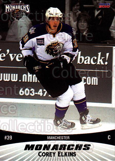 2010-11 Manchester Monarchs #5 Corey Elkins<br/>2 In Stock - $3.00 each - <a href=https://centericecollectibles.foxycart.com/cart?name=2010-11%20Manchester%20Monarchs%20%235%20Corey%20Elkins...&quantity_max=2&price=$3.00&code=593316 class=foxycart> Buy it now! </a>