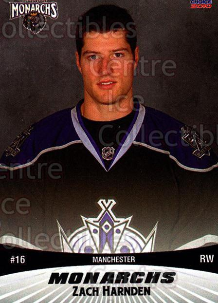 2010-11 Manchester Monarchs #6 Zach Harnden<br/>2 In Stock - $3.00 each - <a href=https://centericecollectibles.foxycart.com/cart?name=2010-11%20Manchester%20Monarchs%20%236%20Zach%20Harnden...&quantity_max=2&price=$3.00&code=593317 class=foxycart> Buy it now! </a>