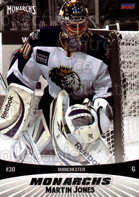 2010-11 Manchester Monarchs #11 Martin Jones<br/>2 In Stock - $3.00 each - <a href=https://centericecollectibles.foxycart.com/cart?name=2010-11%20Manchester%20Monarchs%20%2311%20Martin%20Jones...&quantity_max=2&price=$3.00&code=593322 class=foxycart> Buy it now! </a>