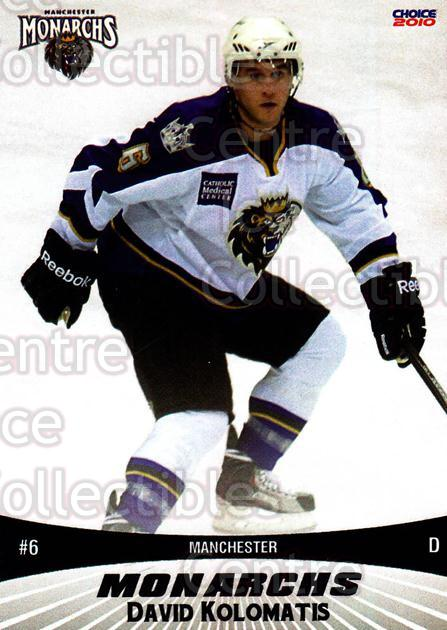 2010-11 Manchester Monarchs #14 David Kolomatis<br/>2 In Stock - $3.00 each - <a href=https://centericecollectibles.foxycart.com/cart?name=2010-11%20Manchester%20Monarchs%20%2314%20David%20Kolomatis...&quantity_max=2&price=$3.00&code=593325 class=foxycart> Buy it now! </a>