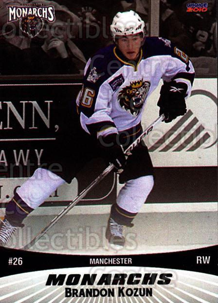 2010-11 Manchester Monarchs #15 Brandon Kozun<br/>1 In Stock - $3.00 each - <a href=https://centericecollectibles.foxycart.com/cart?name=2010-11%20Manchester%20Monarchs%20%2315%20Brandon%20Kozun...&quantity_max=1&price=$3.00&code=593326 class=foxycart> Buy it now! </a>