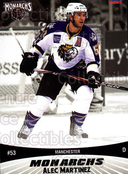2010-11 Manchester Monarchs #16 Alec Martinez<br/>1 In Stock - $3.00 each - <a href=https://centericecollectibles.foxycart.com/cart?name=2010-11%20Manchester%20Monarchs%20%2316%20Alec%20Martinez...&quantity_max=1&price=$3.00&code=593327 class=foxycart> Buy it now! </a>