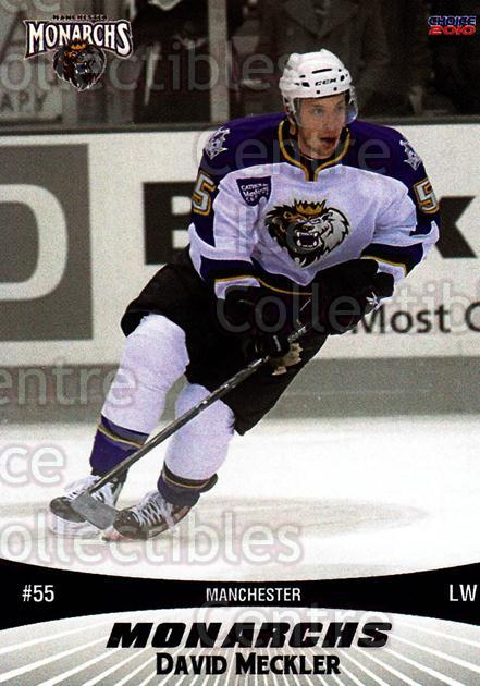 2010-11 Manchester Monarchs #17 David Meckler<br/>1 In Stock - $3.00 each - <a href=https://centericecollectibles.foxycart.com/cart?name=2010-11%20Manchester%20Monarchs%20%2317%20David%20Meckler...&quantity_max=1&price=$3.00&code=593328 class=foxycart> Buy it now! </a>