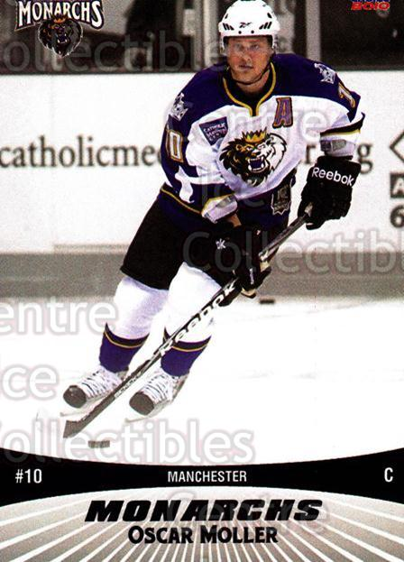 2010-11 Manchester Monarchs #18 Oscar Moller<br/>2 In Stock - $3.00 each - <a href=https://centericecollectibles.foxycart.com/cart?name=2010-11%20Manchester%20Monarchs%20%2318%20Oscar%20Moller...&quantity_max=2&price=$3.00&code=593329 class=foxycart> Buy it now! </a>