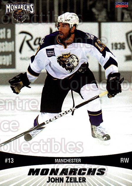 2010-11 Manchester Monarchs #24 John Zeiler<br/>1 In Stock - $3.00 each - <a href=https://centericecollectibles.foxycart.com/cart?name=2010-11%20Manchester%20Monarchs%20%2324%20John%20Zeiler...&quantity_max=1&price=$3.00&code=593335 class=foxycart> Buy it now! </a>