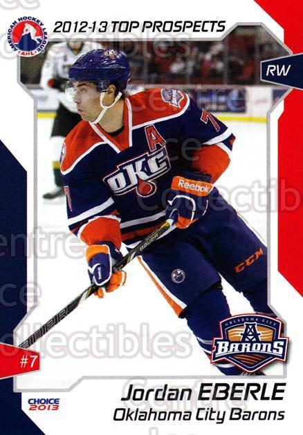 2012-13 AHL Top Prospects #35 Jordan Eberle<br/>2 In Stock - $3.00 each - <a href=https://centericecollectibles.foxycart.com/cart?name=2012-13%20AHL%20Top%20Prospects%20%2335%20Jordan%20Eberle...&quantity_max=2&price=$3.00&code=593396 class=foxycart> Buy it now! </a>