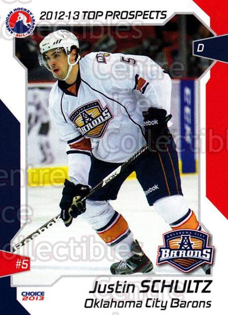 2012-13 AHL Top Prospects #36 Justin Schultz<br/>3 In Stock - $3.00 each - <a href=https://centericecollectibles.foxycart.com/cart?name=2012-13%20AHL%20Top%20Prospects%20%2336%20Justin%20Schultz...&quantity_max=3&price=$3.00&code=593397 class=foxycart> Buy it now! </a>