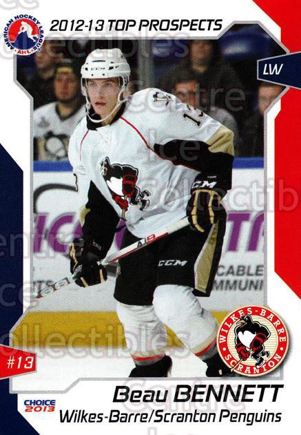 2012-13 AHL Top Prospects #71 Beau Bennett<br/>1 In Stock - $3.00 each - <a href=https://centericecollectibles.foxycart.com/cart?name=2012-13%20AHL%20Top%20Prospects%20%2371%20Beau%20Bennett...&quantity_max=1&price=$3.00&code=593432 class=foxycart> Buy it now! </a>